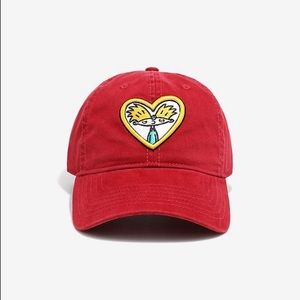 Nickelodeon Hey Arnold Red Heart Patch Dad Hat